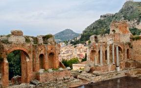 Sizilien, Taormina, Corso Umberto, Tatro Greco, romantik