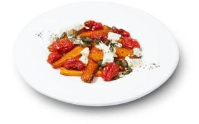 gebacken, Curry, Kuerbis, Tomaten, Schafskaese, La Tavola, Zeitschriften, Mein Freund Freezy