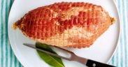 Rezept, Schinken, Fleisch, lecker, einfach, Etagere, Laugengipfel, Gipfel, Spargel, Brot, Kartoffel, Salat
